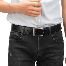 Alloy Jeans Size Chart Fashion Mens Casual Leather Buckles Belts 1 5 Wide Fitting 28 56 Waist Size
