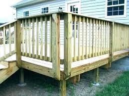 stair railings outdoor wood railing ideas deck also with paint rai