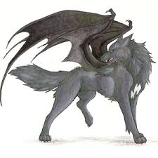 white wolf with wings drawing. In White Wolf With Wings Drawing