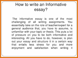 examples of informative essay okl mindsprout co examples of informative essay