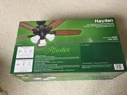 hunter hayden 52 new bronze ceiling fan w light 52048 new