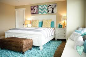Aqua, Teal, Mustard, Grey U0026 White Master Bedroomu2013 So Fresh And Bright, Love  It.