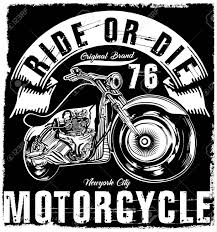 Motorcycle label t shirt design with illustration of custom chopper stock vector 74575907 motorcycle label