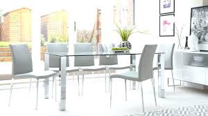 rectangle glass dining tables glass dining table with white chairs image of rectangular glass dining table