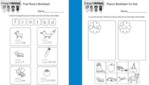 Kindergarten phonics worksheets will help grow your child's reading skills with fun and memorable pictures and stories. 10 Free Phonics Worksheets For Kindergarten Online