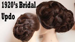 1920s Long Hair Style 1920s inspired swirl bridal updo by yasmine alom youtube 2878 by wearticles.com
