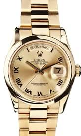 buy men s used rolex watches at the best prices at bob s watches men s rolex president