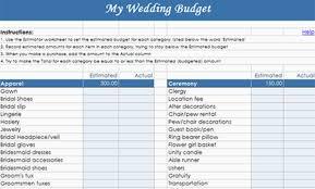 Free Wedding Budget Spreadsheet Destination Weddingt My