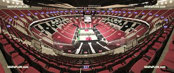 Moda Center Rose Garden Arena View From Section 327