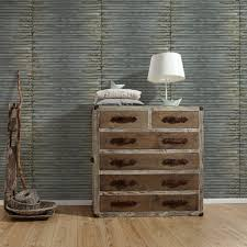 as creation corrugated iron metal wallpaper stripe pattern realistic textured 307561