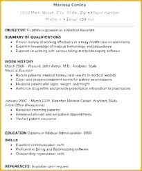 skills for a medical assistant medical assistant summary for resume healthcare resume examples