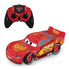 roll over image to zoom larger image cars 3 racing hero lightning mcqueen infrared remote control thinkway toys r