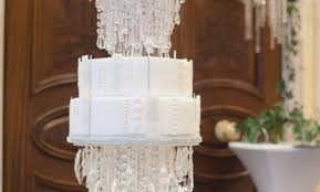 acrylic crystal chandelier wedding cake stand awesome crystal flower