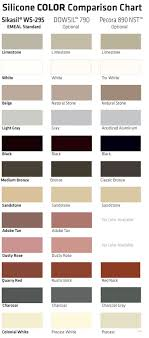 Dow Corning 790 Color Chart Color Selection For Emseal Precompressed Wall And Floor