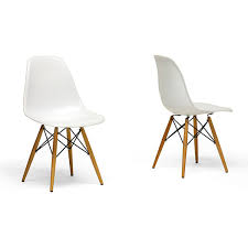 wood leg white accent chairs set of 2 ping great