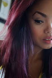 Teaseblendglam Beauty Fashion Diy More My Burgundy Plum Black Black And Red Hair On The Bottom L