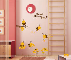 home decorating images sweet honey bee with sunflower wall decals wallpaper and background photos