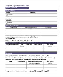 Free 9 Sample Job Application Form In Word Pdf