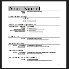 Download Resume Sample In Word Format Resume Template Download For