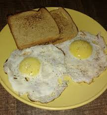 Fried Egg Cooking Chart Half Fry Eggs With Toast