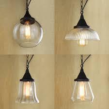 Pendant Lighting Glass Shades Modern Clear Glass Chain Pendant Lampsglass Shades For Light Fixtures Art Decor Hanging Lamp Lighting S