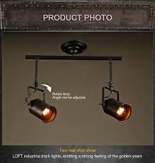 lighting spotlights ceiling. Loft Bar Wall Probe Industrial Pendant Light Black Track Lights Spotlights Clothes Store Ceiling Lamp 1 Lighting