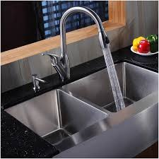 double bowl stainless steel farmhouse sink inviting kraus 36 inch farmhouse double bowl stainless steel