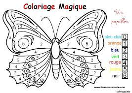Coloriage Magique Un Papillon Facile Dessin