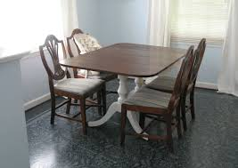 dining room stenciling furniture gorgeous white shade iron metal chandelier dark grey linen upholstery square