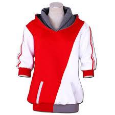 20 vaya Otoño 69 Moda Monstruo Y Con De Versión Sudadera Cruz Capucha Trainer En Pokemon € Cosplay Blanca Rojo Primavera Camisas