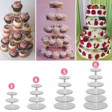 large 6 tier crystal glass round wedding cupcake stand tower cake stand gift 4 4 of 12