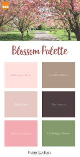 Take inspiration from the cherry blossom trees fresh pinks, grounded browns  and bright greens.