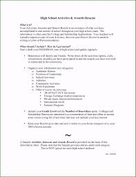 High School Resume Examples For College New Release Example
