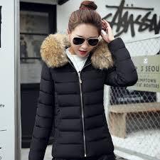 jolintsai 2017 new winter jacket women large fur collar padded coats women parkas wadded thickening winter