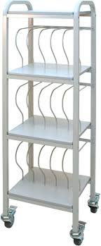 Mobile Chart Ringbinder Cart 15 Space Rack 2 Binder