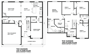 house plans two story 4 bedroom house designs double y homes 2 story