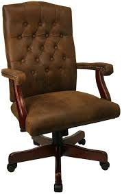 wood and leather office chair wood and canvas folding dark brown leather desk chair