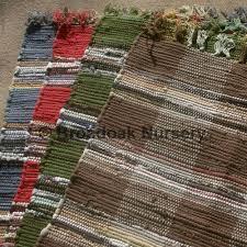 fair trade indian rag rug chindi check soft 100 cotton handmade
