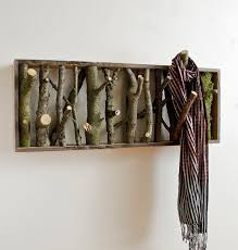 Tree Limb Coat Rack Branching Out Art Decor From Wood Slices Branches Twigs 21