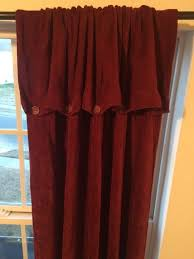 croscill chenille on down curtain 2 panels wine burdy 95 ds rayon