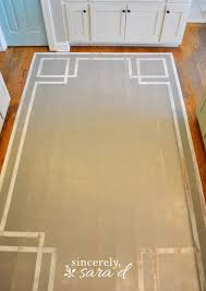 painted rug wood floor