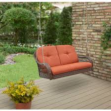 better homes and garden azalea ridge 2 person outdoor swing cushions included