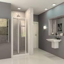 bi fold inward opening shower enclosure door optima