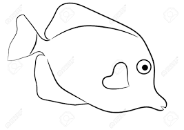 Tropical Fish Outline Clipart