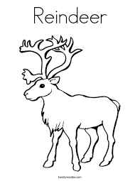 Small Picture Reindeer Coloring Page Twisty Noodle