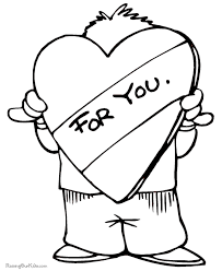 Preschool Valentine Day Coloring Pages 023