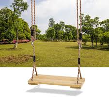 outdoor kids safety swing chair wooden tree swing seat with rope kids tze chair hanging