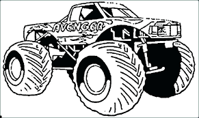 Monster Truck Printable Coloring Pages Colouring Trucks Grave Digger