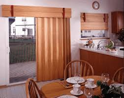 brown dry curtains with wooden cornice connected by