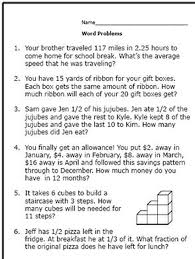 6th-Grade Math Word Problems